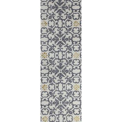 Danforth Hand-Tufted Ivory Area Rug Rug Size: Runner 26 x 8