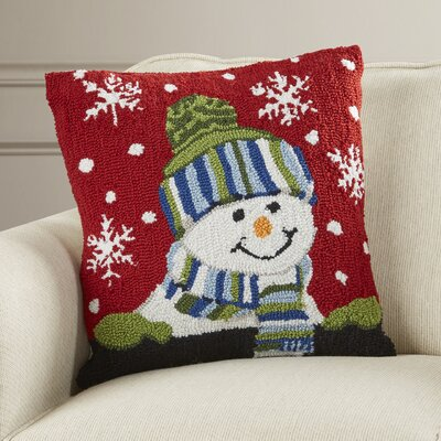 Haggerty Snow Boy Throw Pillow