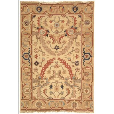 Lakeside Ivory/Gold Area Rug Rug Size: Rectangle 6 x 9