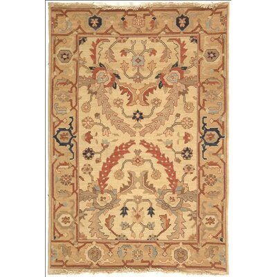 Lakeside Ivory/Gold Area Rug Rug Size: 6 x 9