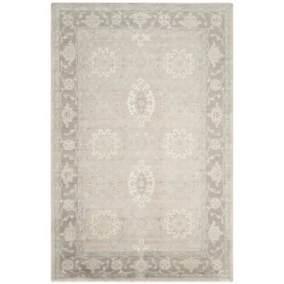 Lakemoore Hand-Knotted Gray/Mauve Area Rug Rug Size: Rectangle 8 x 10
