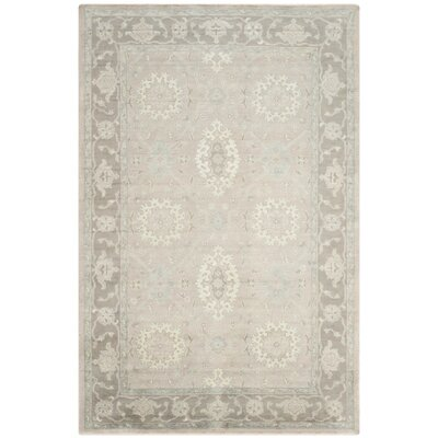 Lakemoore Hand-Knotted Gray/Mauve Area Rug Rug Size: 9 x 12