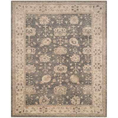 Chandler Hand-Knotted Gray/Beige Area Rug Rug Size: Rectangle 8 x 10