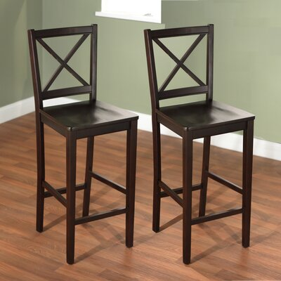 Charlotte Cross Back 24 Bar Stool