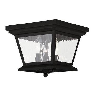 Campfield 3-Light Flush Mount Finish: Black