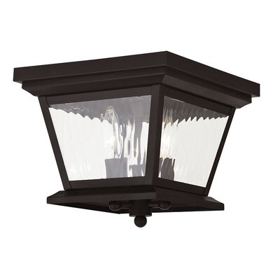 Campfield 3-Light Flush Mount Finish: Bronze