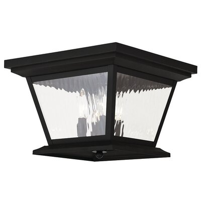 Campfield 4-Light Flush Mount Finish: Black
