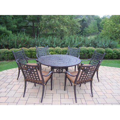 Vandyne 7 Piece Round Dining Set with Cushions