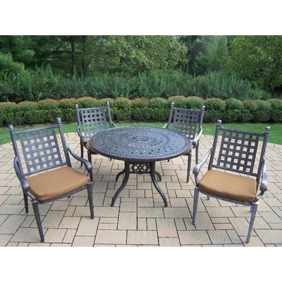 Vandyne 5 Piece Round Dining Set with Cushions