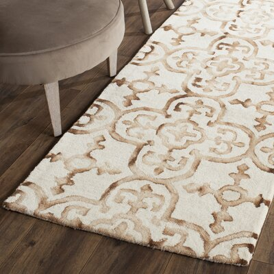 Naples Park Hand-Tufted Ivory & Camel Area Rug Rug Size: Runner 23 x 6