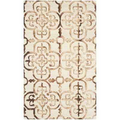 Kinzer Hand-Tufted Ivory & Camel Area Rug Rug Size: 3 x 5