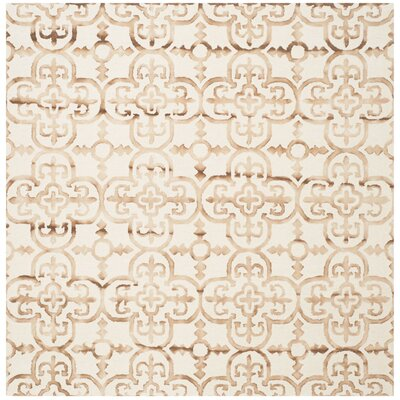 Kinzer Hand-Tufted Ivory & Camel Area Rug Rug Size: Square 7 x 7