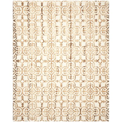Kinzer Hand-Tufted Ivory & Camel Area Rug Rug Size: 9 x 12