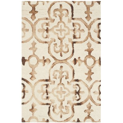 Kinzer Hand-Tufted Ivory & Camel Area Rug Rug Size: 2 x 3