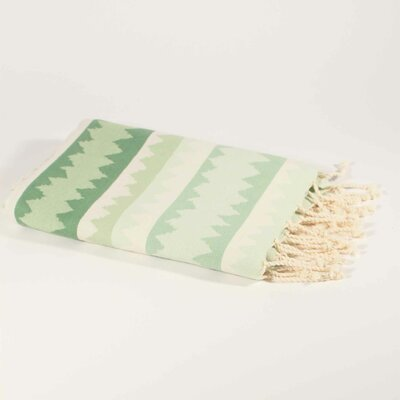 Hudgens Ethnic Stripe Beach Towel Color: Lucite Green/Green