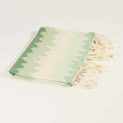 Hudgens Ethnic Stripe Hand Towel Color: Lucite Green/Green