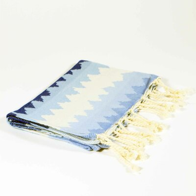 Hudgens Ethnic Stripe Hand Towel Color: Blue Jeans/Azur