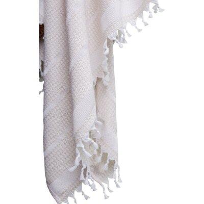 Hudgens Bath Towel Color: White/Beige