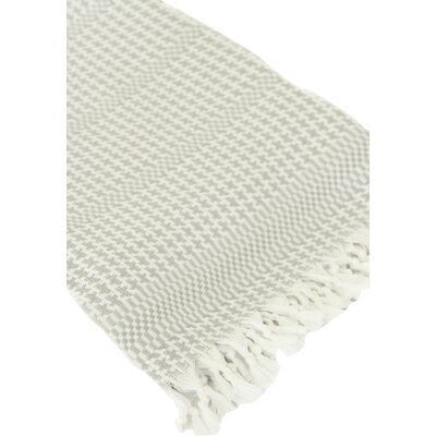 Hudgens Bath Towel Color: White/Gray