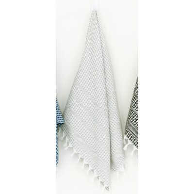 Hudgens Hand Towel (Set of 2) Color: White/Gray