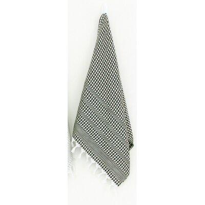 Hudgens Hand Towel (Set of 2) Color: White/Black