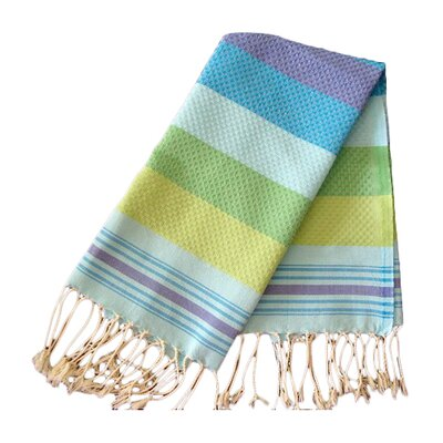 Hudgens Honeycomb Weave Bath Towel (Set of 2) Color: Turquoise