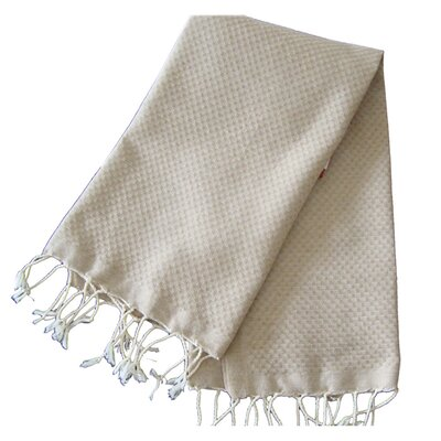 Hudgens Honeycomb Weave Bath Towel (Set of 2) Color: Beige