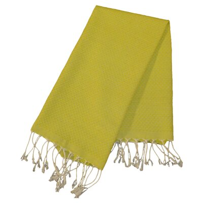 Hudgens Honeycomb Weave Bath Towel (Set of 2) Color: Chartreuse Green