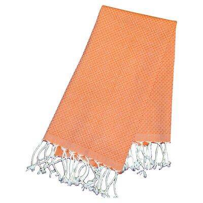Hudgens Honeycomb Weave Bath Towel (Set of 2) Color: Orange