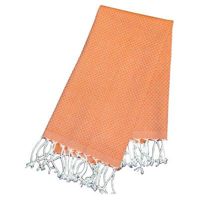 Hudgens Honeycomb Weave Bath Towel (Set of 2) Color: Orange