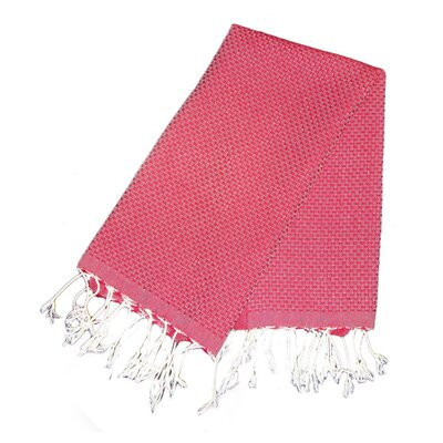 Hudgens Honeycomb Weave Bath Towel (Set of 2) Color: Red