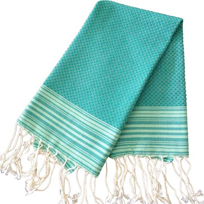 Hudgens Honey Comb Hand Towel (Set of 2) Color: Emerald Green / Light Green