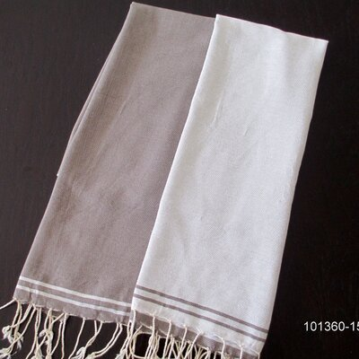 Hudgens Split Bath Towel Color: White / Mink