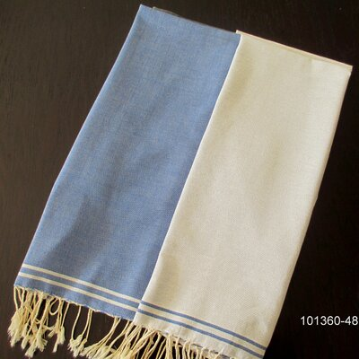 Hudgens Split Bath Towel Color: Blue Jeans / White