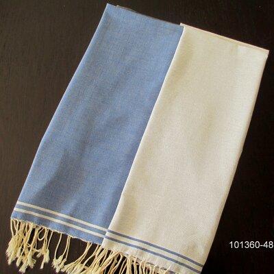 Hudgens Split Bath Towel Color: Blue Jeans / White