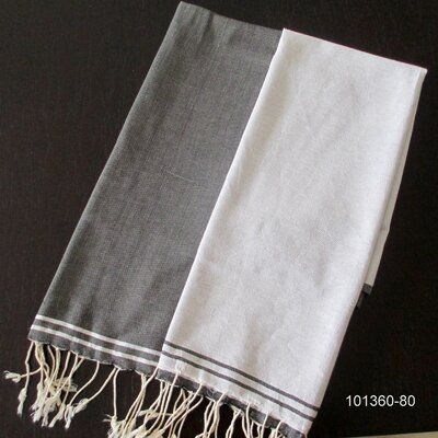 Hudgens Split Bath Towel Color: White / Black