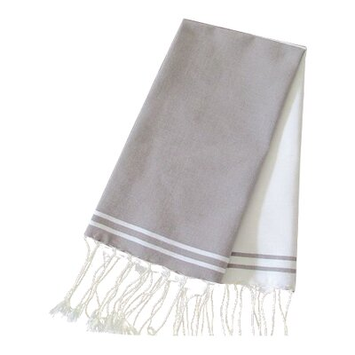 Hudgens Split Bath Towel (Set of 2) Color: White / Mink