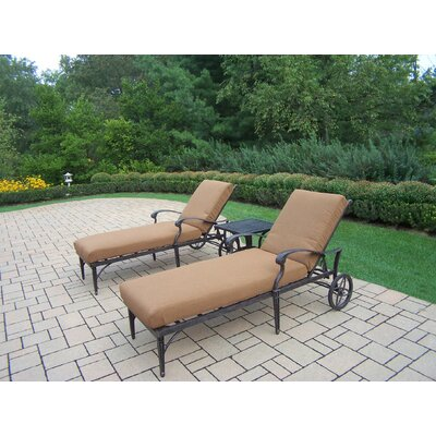 Image of Vandyne 3 Piece Sunbrella Conversation Set with Cushions