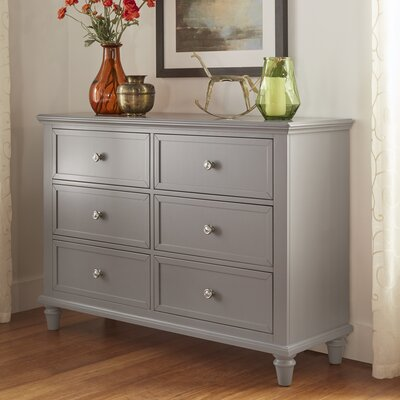 Isabella 6 Drawer Dresser Color: Frost Gray