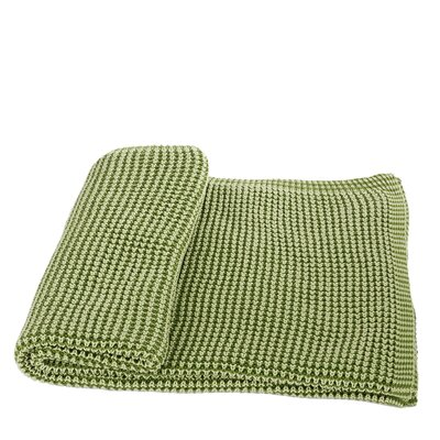 Cora Cotton Throw Color: Green