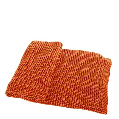 Cora Cotton Throw Color: Orange