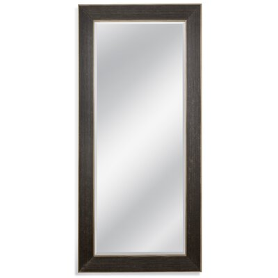 Rectangle Ebony/Gold Leaner Mirror