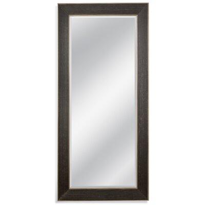 Rectangle Ebony/Gold Leaner Mirror