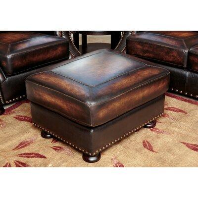 Ennis Leather Ottoman