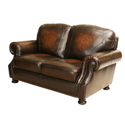 Ennis Leather Loveseat