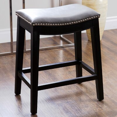 Samuels 25 Bar Stool Upholstery: Grey
