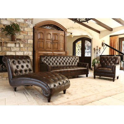 Straub 3 Piece Leather Living Room Set