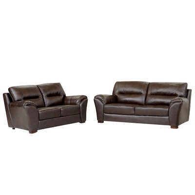 Schweizer Leather Sofa and Loveseat Set