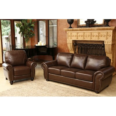 Wellhead Leather Sofa and Recliner Set