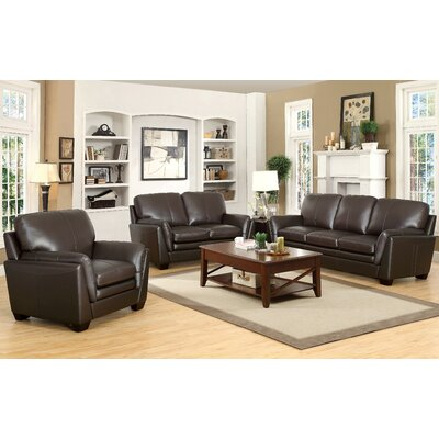 Whitstran Leather Configurable Living Room Set